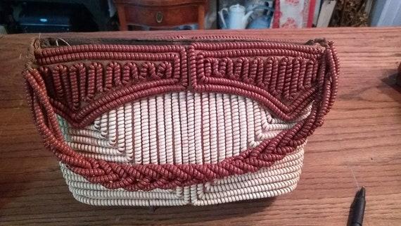1940s Telephone cord handbag, war-era plastic coil