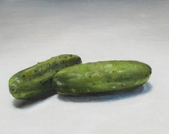 PICKLES small oil painting by Carey Pavlik