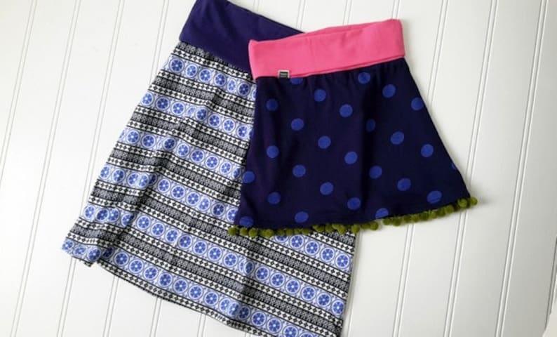 Jenna Knit Skirt Pattern  Womens PDF Pattern  Sizes 2-14 image 0