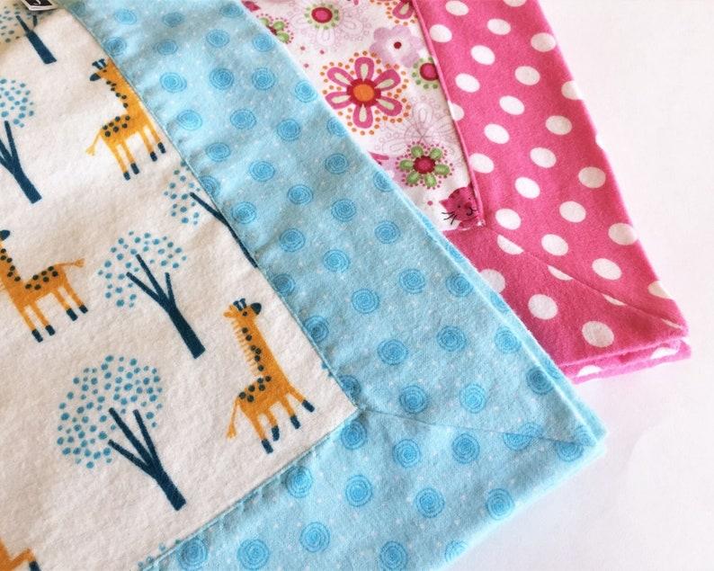 Self Binding Baby Blanket Sewing Pattern  PRINTABLE PDF image 0