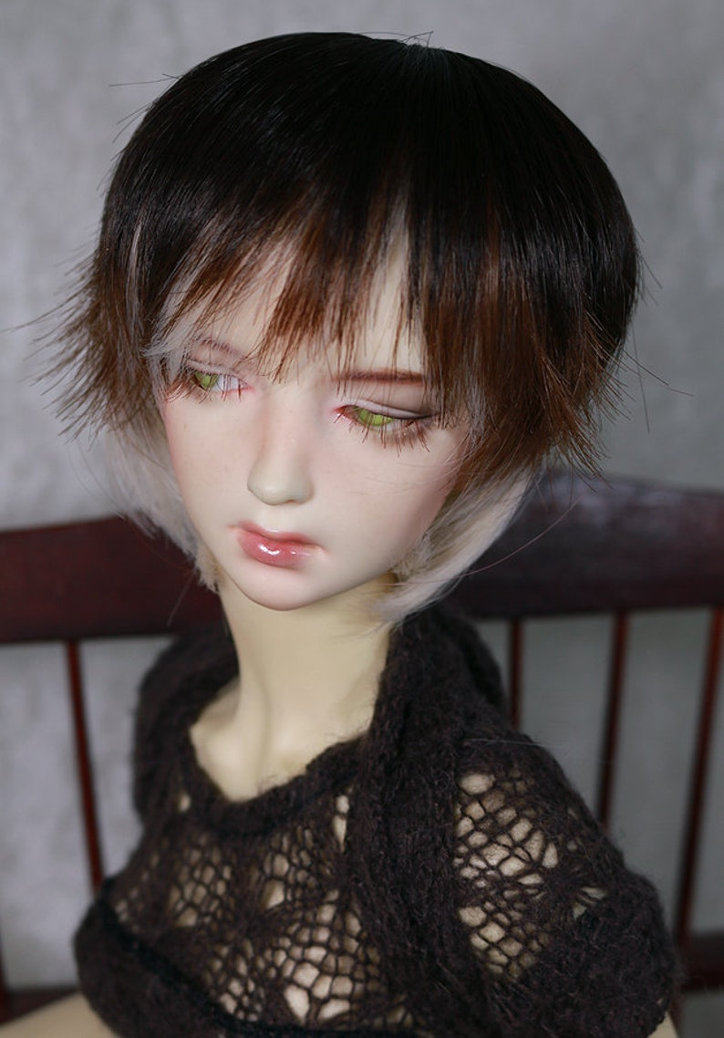 Doll Wig Short Straight Chocolate Brown Bjd Ball Jointed Doll Size 6-7 8-9 Home Arts & Crafts Crafts