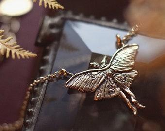 Luna Moth Necklaces