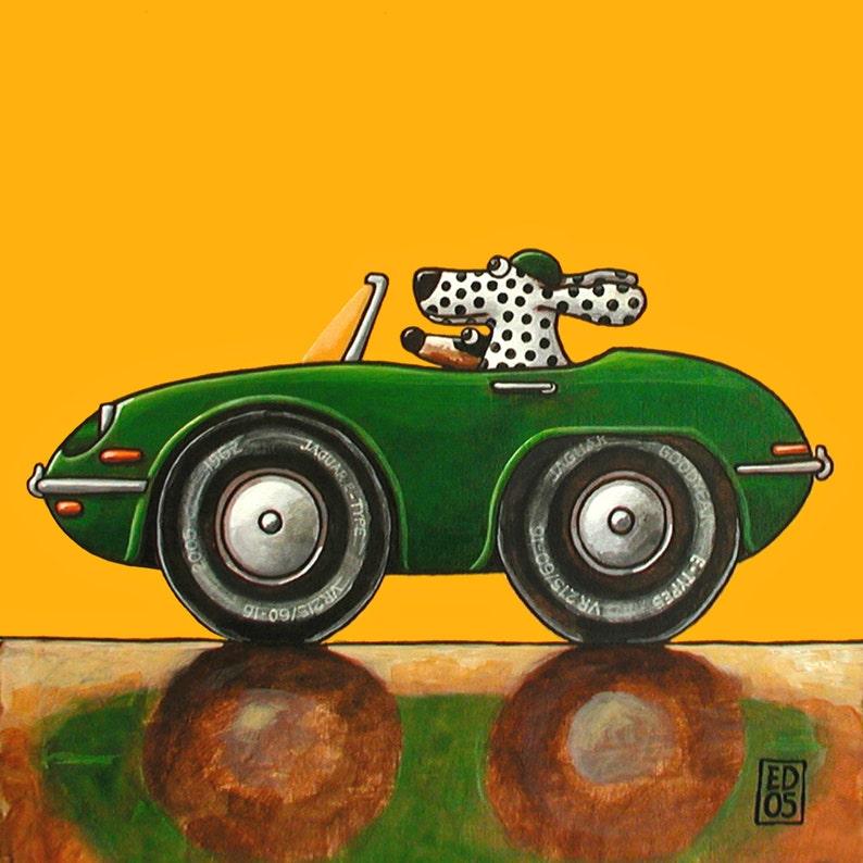 074 E-types Jaguar \u2013 print 14x14cm5.5x5.5\u201d