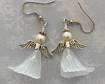 Angel Earrings. Guardian Angel Jewelry For Christmas or Anytime of the Year