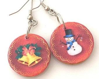 Mismatched Christmas Earrings. Cute Holiday Earrings