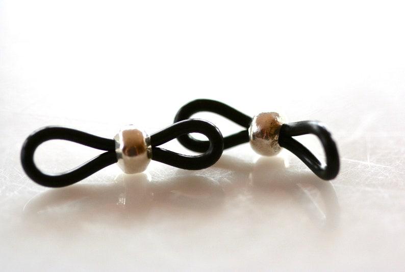 Fine Silver Beaded Eyeglass Loops. Lots of 1 5 or 10 Pair. image 0
