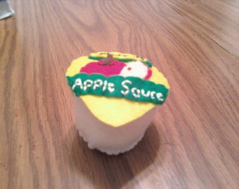 Felt Food Applesauce - play kitchen - pretend food - toy for boys and girls - pretend groceries - fruit - apple - make believe