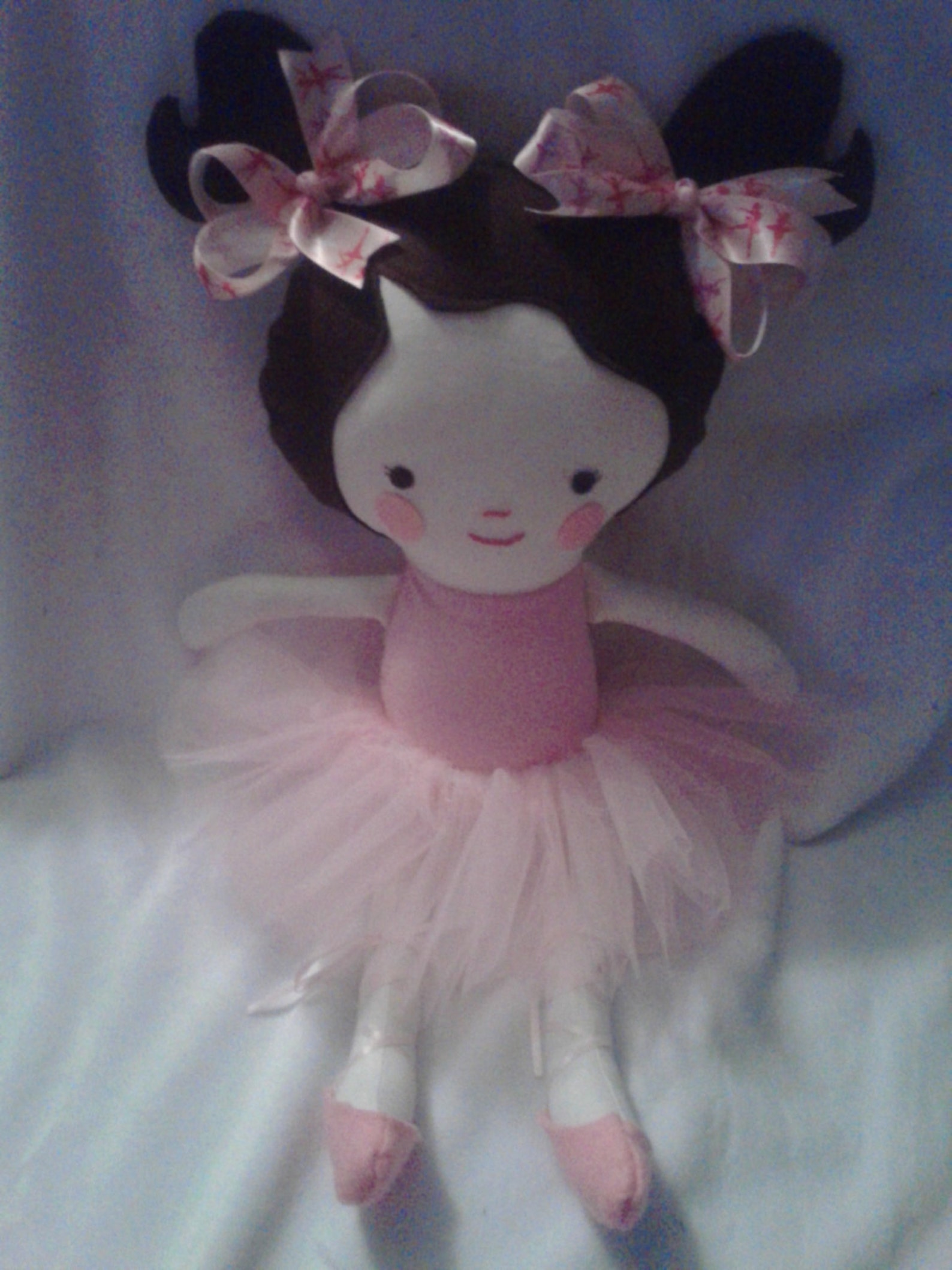 18 inch pigtails ballerina - rag doll - removable shoes and tutu - dress up - dance - ballet - recital gift - dolly