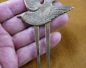 Songbird bird hair pin pick stick repro Victorian brass accessory pick CH-BIRD-1