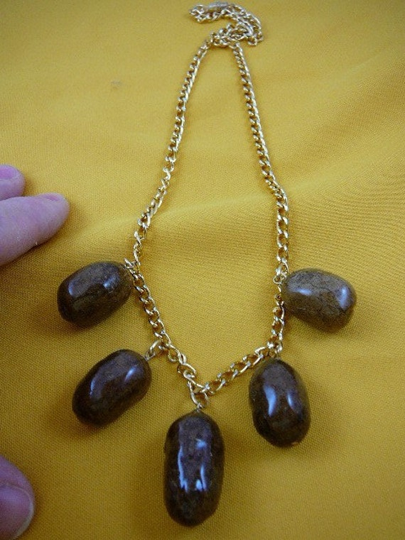 Real Moose POOP 5 poopy turd doo doo nugget Necklace jewelry Weird pp18-1