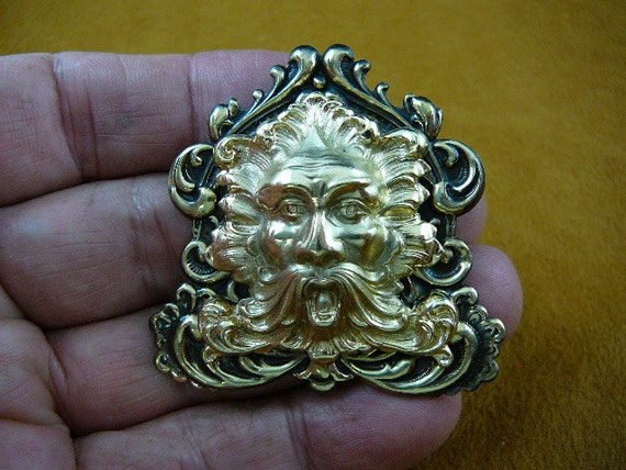 Green Man Aeolus God Of Wind Nature Mask Scrolled Victorian Etsy