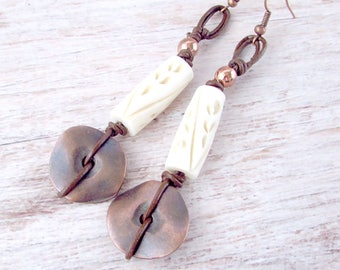 Womens Ethnic Earrings - Bohemian Tribal Earrings - Viking Jewelry - Gifts for Her - Girlfriend Gifts Under 30 - Everyday Earrings - Boho