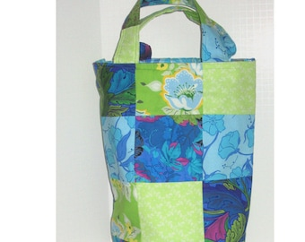 Tropical Breeze Patchwork Knitter's Tote