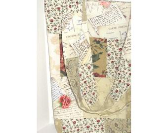 Sentimental Journey Patchwork  Knitter's Tote