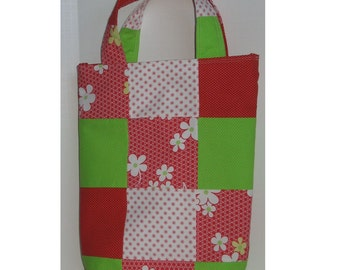 Blooming Patchwork Knitter's Tote