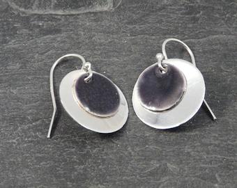 Sterling silver earrings with enamel