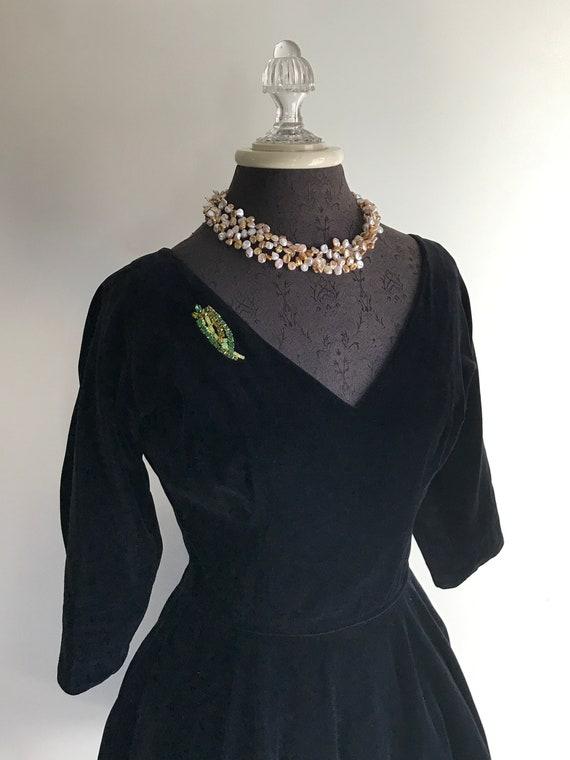 Vintage Black Velvet Dress or Black Velvet Cocktai
