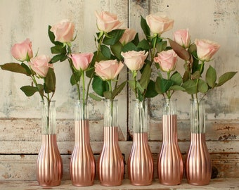 Rose Gold Decor Wedding Centerpieces Bridal Shower Set Of 12