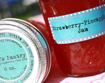Homemade jam, 8 oz Mason jar of Strawberry Pineapple Jam, Great Gift