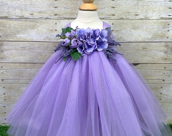 Princess Elegant Wedding White Tulle 4 Layer Sequence Bow Lilac Dress Wedding Bridesmaid Spring Summer Fall Toddler Baby Photoshoot Pageant