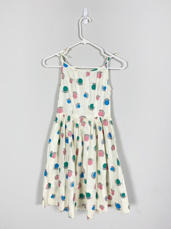 1940s Child's DRESS & BOLERO novelty print textur… - image 5