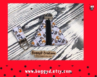 Greys Anatomy Coin Purse  and Matching Key FOB | Zipper Pull | Vegan leather | Faux Leather (H)