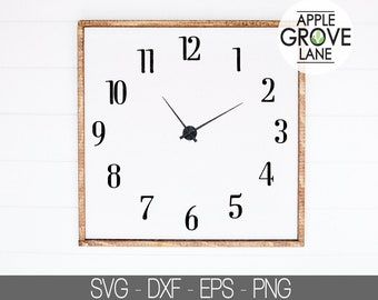 Clock face template | Etsy