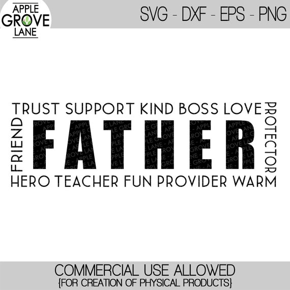 Free Father's day is a day of honouring fatherhood and paternal bonds, as well as the influence of fathers in society. Father Svg Dad Svg Father S Day Svg Gift For Dad Svg Etsy SVG, PNG, EPS, DXF File