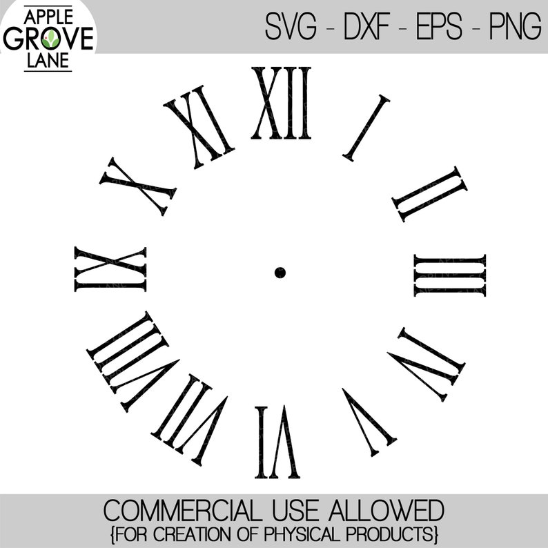photo regarding Roman Numeral Stencils Printable referred to as Clock Facial area Svg - Clock Svg - Svg Template - Roman Numerals Clock Svg - Romen Numerals Svg - Clock Stencil - Svg Eps Png Dxf