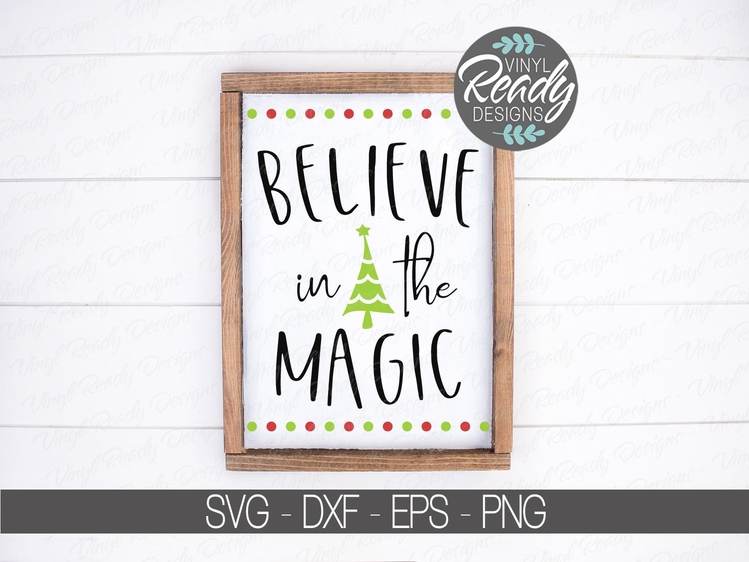 Believe In The Magic Svg Cut File Christmas Svg Tree Holiday Etsy