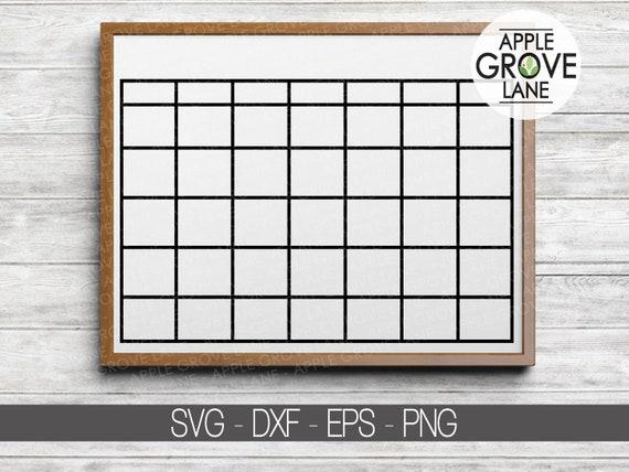 Blank Calendar Svg Calendar Outline Svg Calendar Svg Etsy