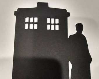 Dr Who TARDIS and tenth doctor