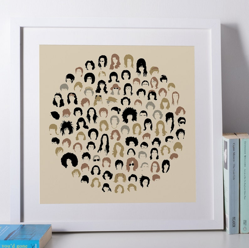 Hair Salon Poster Hair Stylist Gift Vintage Hairstyle Chart image 0