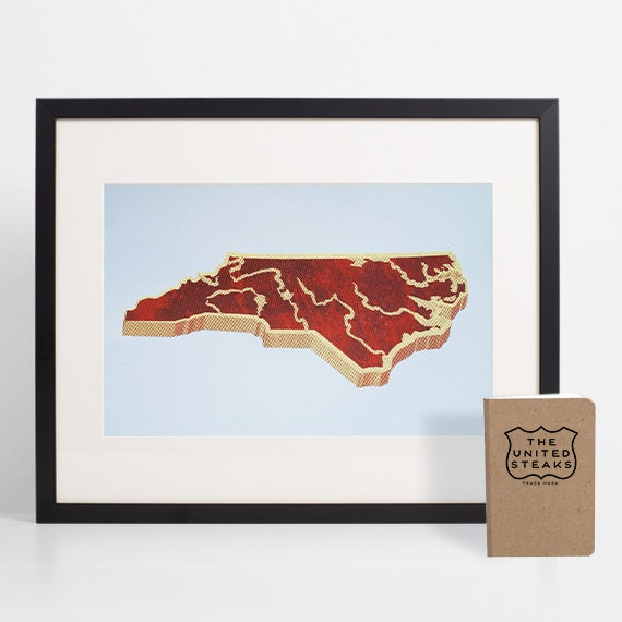North Carolina Home Decor Kitchen Decor BBQ North Carolina