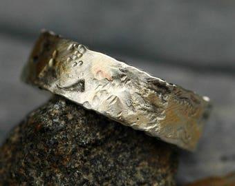 Argent et jaune or Band - prêt à l'expédition taille 8,5 anneau métallique mixte