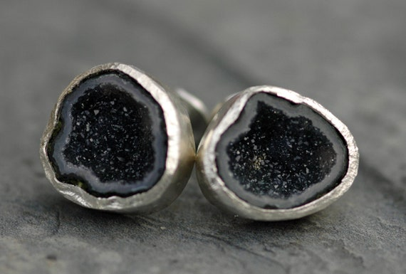 Ready to Ship Geode Cuff Links Rough Crystal Cufflinks for French Cuffs