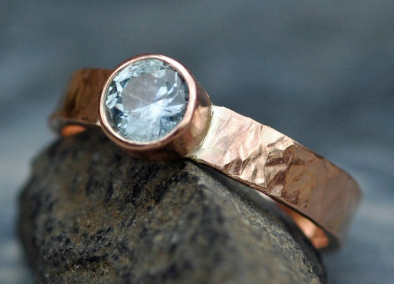Montana Sapphire in Recycled 14k White, Rose, or Yellow Gold Ring Custom Made
