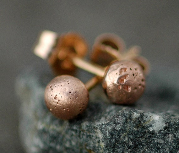 Little Rose Gold Drop Earrings