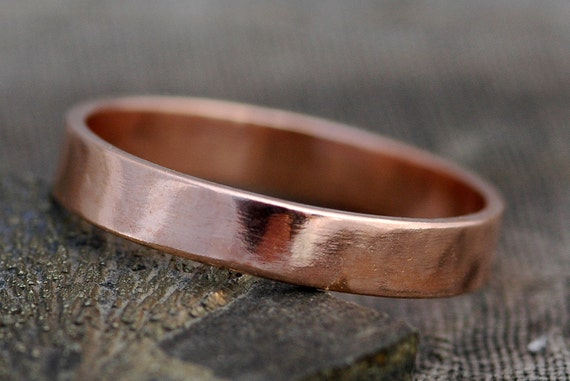 Rose Gold Band- 14k Recycled Gold- Custom Made