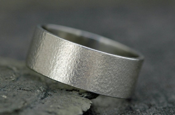 14k Recycled Gold Wedding Band with Texture- Custom Made
