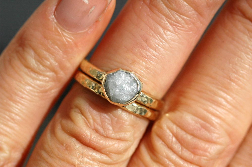 rough and rugged surface texture size 7 12 finished and ready to ship #952 White Gold Wedding Ring