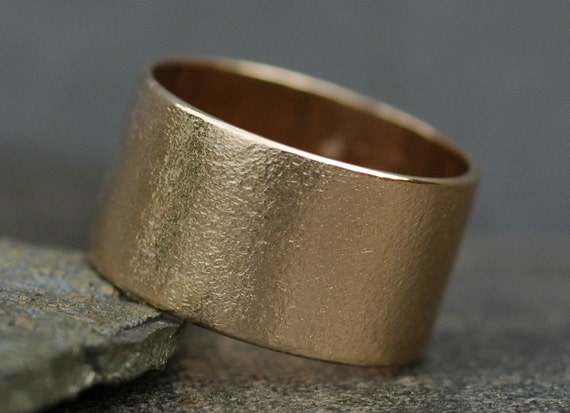 14k Gold Wedding Band- Custom Made Recycled Gold