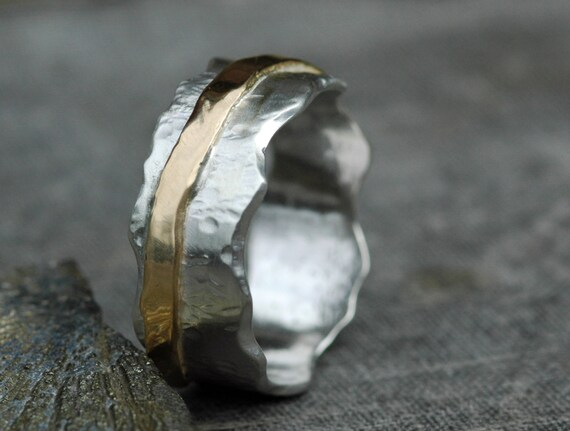 Mixed Gold Wave Band- Custom Made