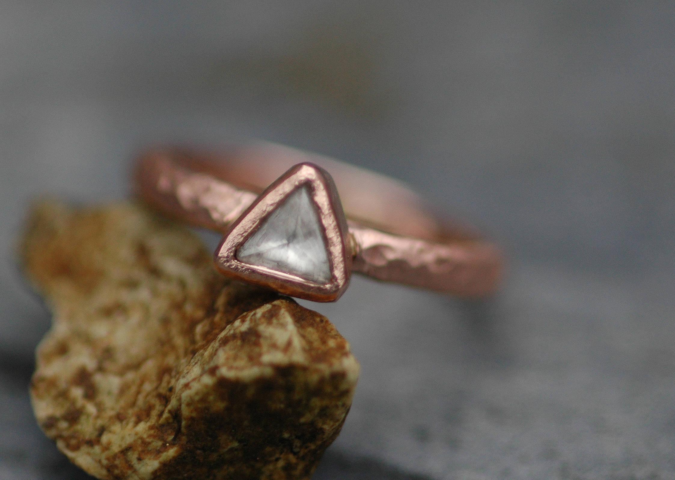 Uncut Diamond Ring Platinum