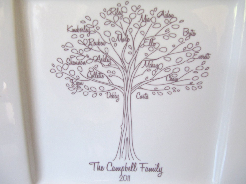 Groom Wedding Gifts From Bride: Family Tree PlatterBride And Groom Wedding Gift For