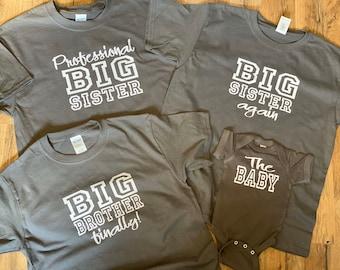 Sibling Shirts Set Of 4 Etsy