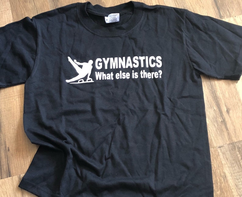 1215efd211983 male gymnast shirt for boys Gymnastics What else is there? Youth Medium  t-shirt SALE ready to ship, team shirt birthday gift idea custom tee