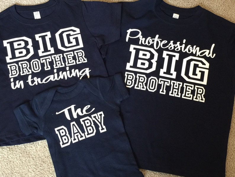 Personalized gifts Big Brother Shirt Set Big Brother In image 0