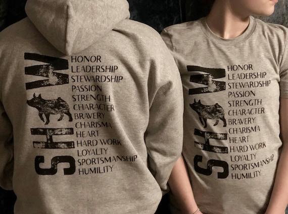 I Love Heart Hogs Black Sweatshirt