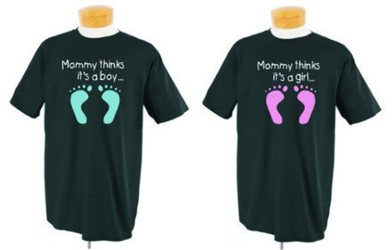 3476ed1f36d5a Gender Reveal shirts Custom shirts Mom Dad Baby Announcement | Etsy